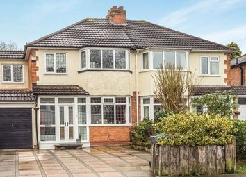 Thumbnail 4 bed semi-detached house for sale in Three Oaks Road, Wythall, Birmingham