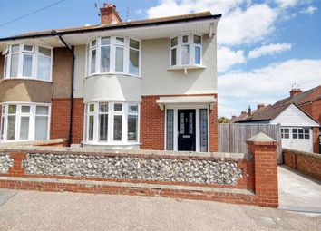 Thumbnail 3 bed semi-detached house for sale in Peverel Road, Worthing, West Sussex