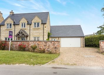 Thumbnail 3 bed detached house for sale in Castle Bytham Road, Swayfield, Grantham
