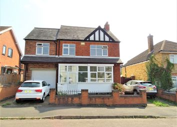 Thumbnail 4 bed detached house for sale in Ashleigh Road, Glenfield, Leicester