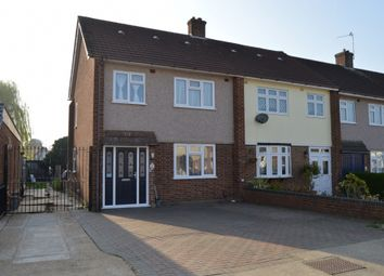 Thumbnail 3 bed end terrace house for sale in Rutland Drive, Hornchurch