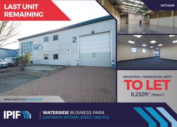 Thumbnail Warehouse to let in Unit 2, Waterside Business Park, Eastways, Witham, Essex