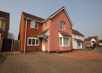 Thumbnail 4 bed detached house for sale in Speckled Wood Close, Pinewood, Ipswich