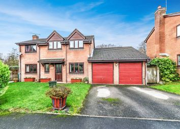Thumbnail 4 bed detached house for sale in Alder Close, Loggerheads, Market Drayton