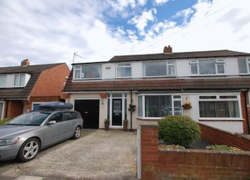 Thumbnail 4 bed semi-detached house for sale in Caldwell Road, Fawdon, Newcastle Upon Tyne