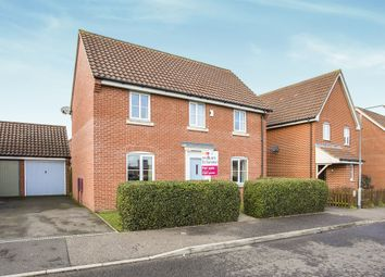 Thumbnail 3 bedroom detached house for sale in Lomond Road, Attleborough