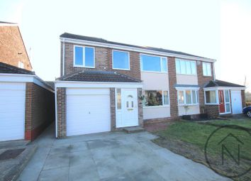 Thumbnail 4 bed semi-detached house for sale in Hambleton Court, Newton Aycliffe
