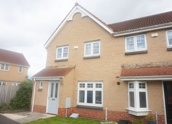 Thumbnail 3 bed terraced house for sale in Thirlwall Court, Longbenton, Newcastle Upon Tyne