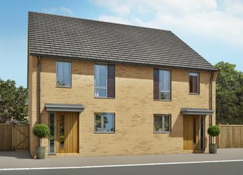 "Thumbnail 2 bedroom semi-detached house for sale in ""The Barton A"" at Heron Road, Northstowe, Cambridge"