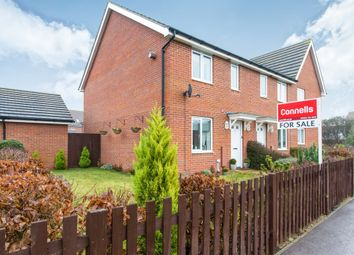 Thumbnail 3 bed end terrace house for sale in Sterling Way, Upper Cambourne, Cambridge