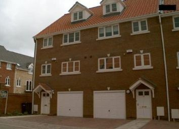 Thumbnail 3 bed town house to rent in Finishers Road, Norwich