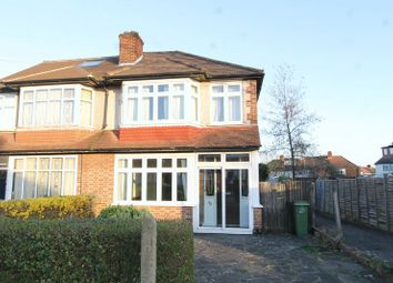 Thumbnail 3 bed semi-detached house for sale in Egham Crescent, North Cheam, Sutton