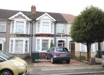 Thumbnail 3 bedroom terraced house for sale in Burnaby Road, Coventry