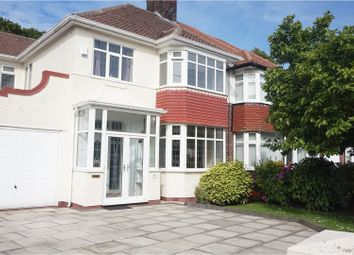 Thumbnail 4 bed semi-detached house for sale in Childwall Park Avenue, Liverpool