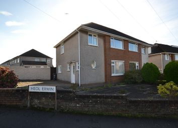Thumbnail 3 bed semi-detached house to rent in Heol Lewis, Rhiwbina, Cardiff.