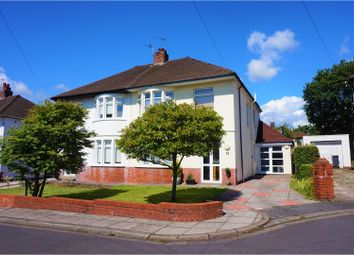 Thumbnail 3 bed semi-detached house for sale in Nantfawr Close, Cardiff