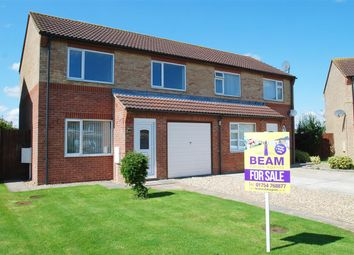 Thumbnail 3 bed semi-detached house for sale in Holland Drive, Skegness