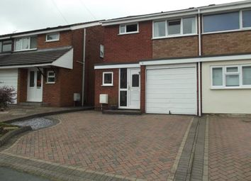 Thumbnail 3 bed semi-detached house for sale in Avon Road, Burntwood, Staffordshire