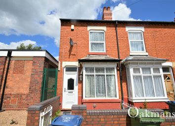 Thumbnail 4 bedroom end terrace house for sale in Westminster Road, Selly Oak, Birmingham, West Midlands.