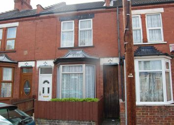 Thumbnail 2 bed terraced house to rent in Newcombe Road, Dallow Road Area, Luton