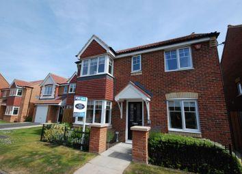 Thumbnail 4 bed detached house for sale in Embleton Walk, Ashington