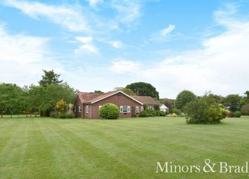 Thumbnail 4 bed detached bungalow for sale in Mill Common Road, Witton, North Walsham