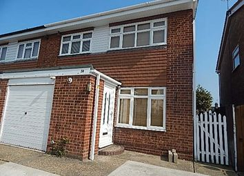 Thumbnail 3 bed end terrace house to rent in Marlborough Close, Grays