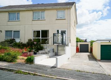 Thumbnail 3 bed semi-detached house for sale in Smallack Close, Crownhill, Plymouth