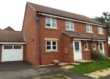 Thumbnail 3 bed semi-detached house to rent in Brodie Close, Rugby
