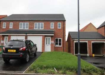 Thumbnail 3 bedroom semi-detached house to rent in Evergreen Way, Norton, Malton