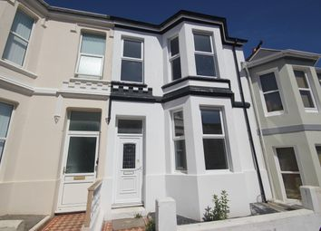 Thumbnail 3 bed terraced house to rent in Durham Avenue, Plymouth