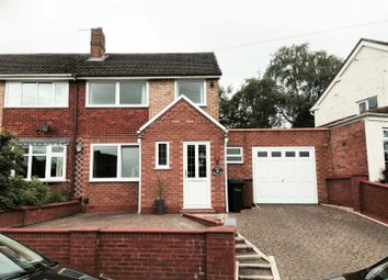 Thumbnail 3 bed semi-detached house to rent in Rowan Close, Lichfield