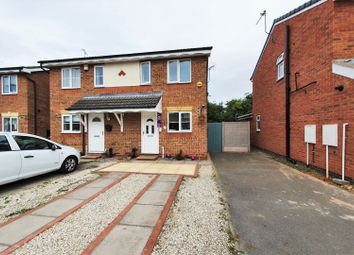 Thumbnail 2 bed semi-detached house for sale in Manston Close, Thurmaston, Leicester