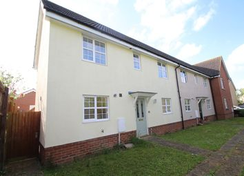 Thumbnail 3 bed end terrace house for sale in Robin Close, Stowmarket