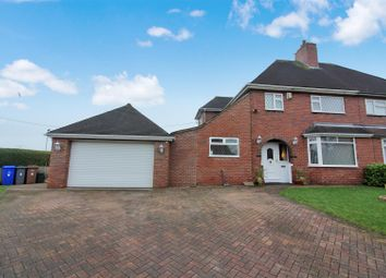 Thumbnail 3 bed semi-detached house for sale in Princess Drive, Weston Coyney, Stoke-On-Trent