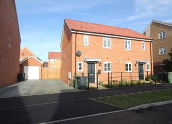 Thumbnail 2 bed semi-detached house for sale in Fairway, Costessey, Norwich