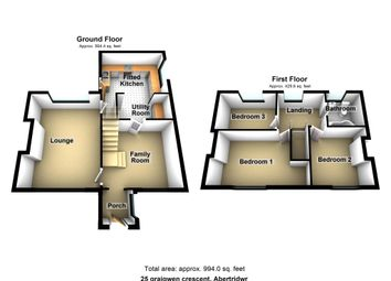 Thumbnail 3 bed semi-detached house for sale in Graigwen Crescent, Abertridwr, Caerphilly