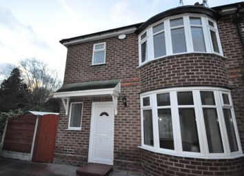 Thumbnail 3 bed semi-detached house to rent in Oakdale Drive, Didsbury, Manchester