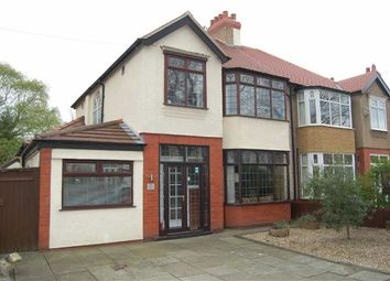 Thumbnail 3 bed semi-detached house for sale in Elmwood Avenue, Crosby, Merseyside