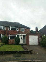 Thumbnail 3 bed semi-detached house to rent in Chester Road North, Sutton Coldfield