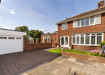 Thumbnail 3 bed semi-detached house for sale in Kilnshaw Place, North Gosforth, Newcastle Upon Tyne