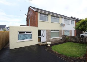 Thumbnail 3 bed semi-detached house for sale in Aston Gardens, Bangor