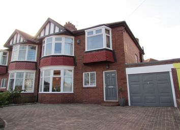 Thumbnail 3 bedroom semi-detached house for sale in Polwarth Drive, Brunton Park, Gosforth