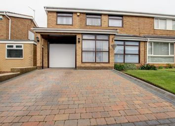 Thumbnail 4 bed semi-detached house for sale in Worcester Close, Great Lumley, Chester Le Street