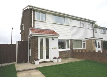Thumbnail 3 bed semi-detached house for sale in Croftside Close, Leeds