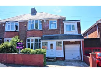 Thumbnail 5 bed semi-detached house for sale in Lanercost Drive, Newcastle Upon Tyne