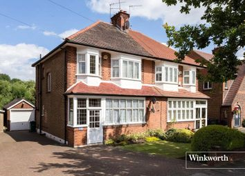 Thumbnail 3 bed semi-detached house for sale in Chanctonbury Way, Woodside Park, London
