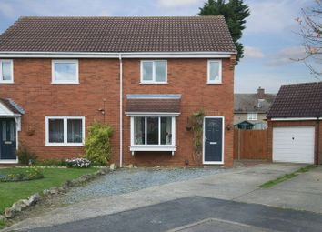 Thumbnail 3 bedroom semi-detached house for sale in Codrington Court, Eaton Socon, St. Neots