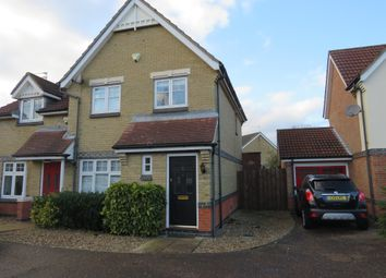 Thumbnail 3 bedroom semi-detached house for sale in Barleyfield Road, Horsford, Norwich