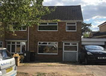 Thumbnail 3 bed semi-detached house to rent in The Buntings, Bedford